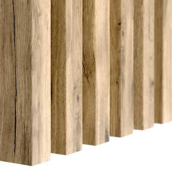 Lamele dąb wotan drewniane na ścianę 3D