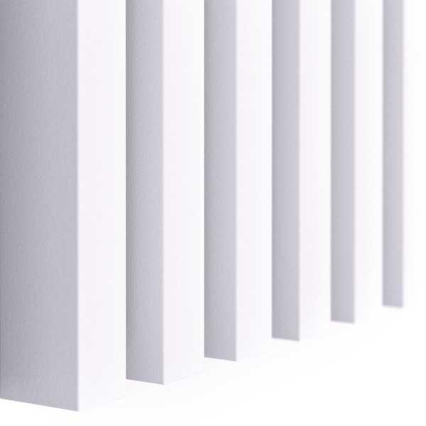 Lamele ścienne biały mat 3D czterostronne