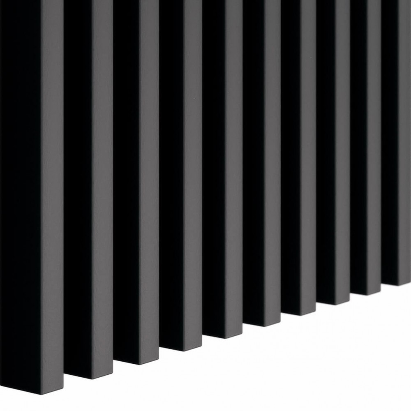 Czarne lamele wąskie 3cm x 1,6cm 3D
